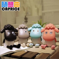 Creative lovely cartoon sheep LED desk lamp eye protection learning children's charging folding reading light transfer desk