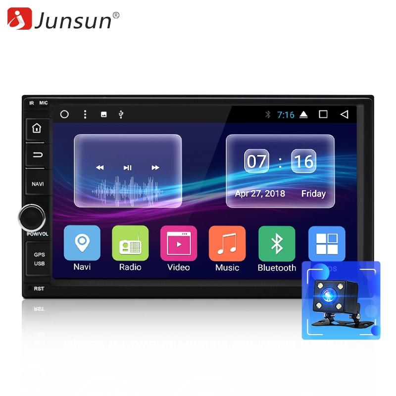 """Junsun 7 """" магнитола 2 Din 2GB+32GB Android автомагнитола DVD Радио Мультимедиа Плеер 1024*600 Gps-навигация авторадио Стерео Аудио Универсальный для ford focus 2 / hyundai solaris"""