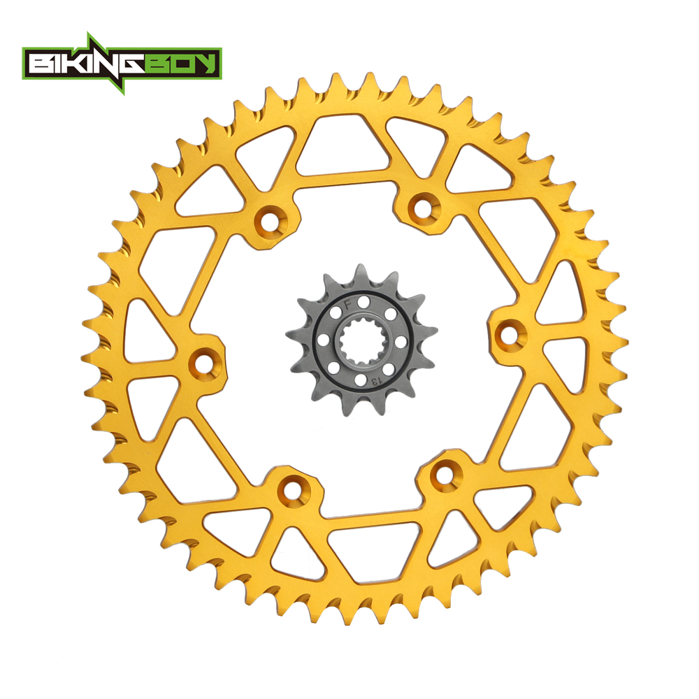 BIKINGBOY Front 13T Rear <font><b>48T</b></font> 49T 50T 51T 52T <font><b>Sprockets</b></font> Set for Suzuki RMZ RM-Z 250 13 14 15 16 17 2013 2014 2015 2016 2017 image