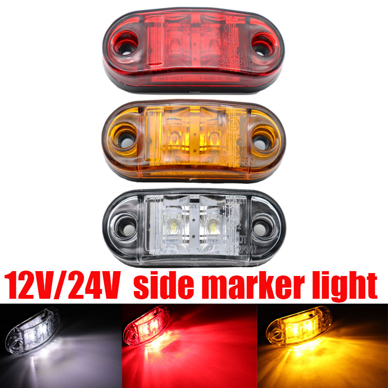 12v / 24v Led Side Marker Lights For Trailer Trucks Caravan Side Clearance Marker Light Lamp Led Lorry Amber Red White 9-30V