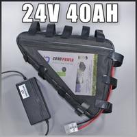 24 v bateria de iões de lítio ebike 24 v 40AH Triângulo bicicleta elétrica da bateria Livre UE EUA impostos aduaneiros