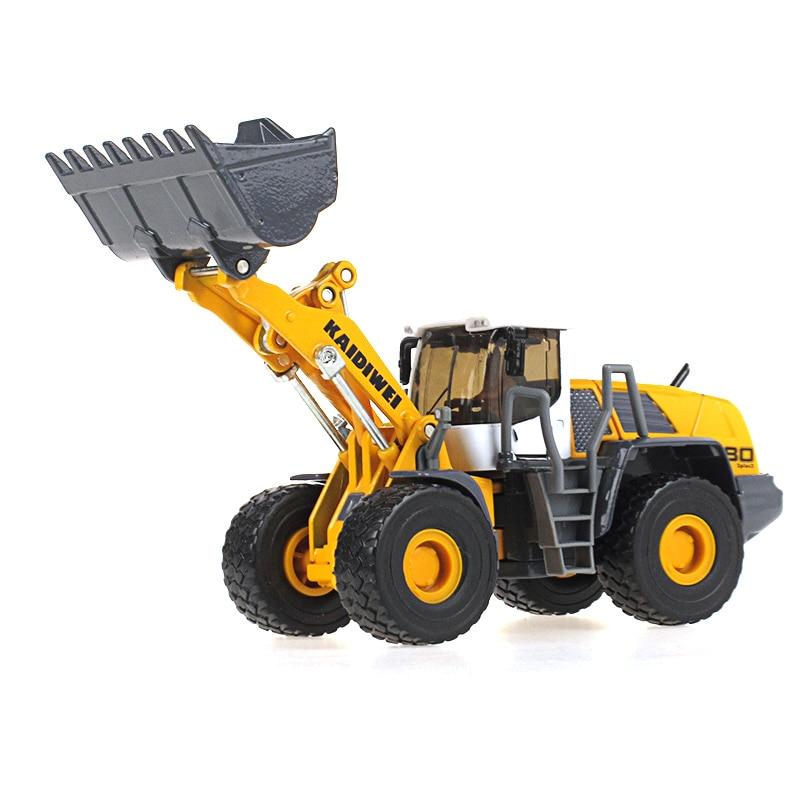 KAIDIWEI 1:50 Simulation Forklift Bulldozer Alloy Metal Model Pull Back Machine Model Boy Toys Gift
