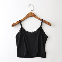 Casual girl lace underwear, European and American women's style adjustable ice silk small suspenders wear bras.(China)