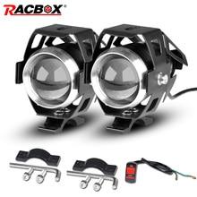 RACBOX 2 шт. U5 мотоцикл светодиодный головной светильник 12V 24V 3000LM к рулю мотоцикла велосипеда светодиодный для дневных ходовых огней светильник DRL Противотуманные светильник лампы белого цвета