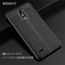 For LG K10 2018 Case Shockproof Luxury Leather Soft TPU Anti-knock Phone Case For LG K10 2018 Cover For LG K11 Case 5.3 BSNOVT for lg k10 2018 cover soft tpu silicone for lg k10 plus 2018 case cartoon patterned for lg k10 alpha 2018 k10a 2018 shell capa
