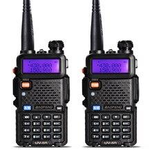 2 шт. BaoFeng UV-5R портативная рация VHF/UHF 136-174 МГц и 400-520 МГц Dual Band двухстороннее радио Baofeng uv 5r портативный двухканальные рации
