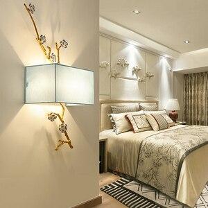 Image 5 - Applique murale moderne en tissu style chinois, éclairage mural pour la maison