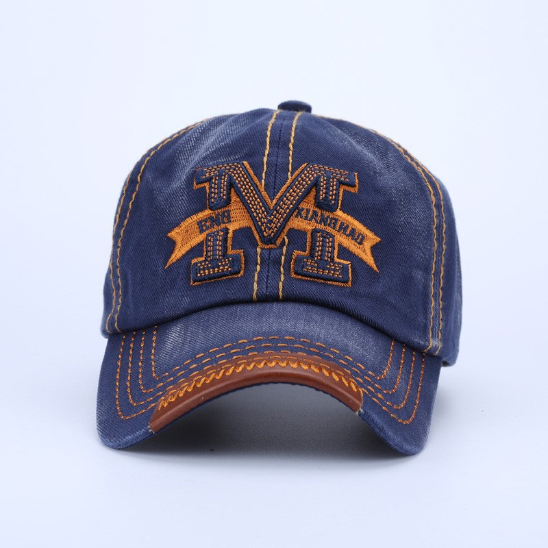 """Embroidered Letter """"M"""" Dad Hat - Front View"""