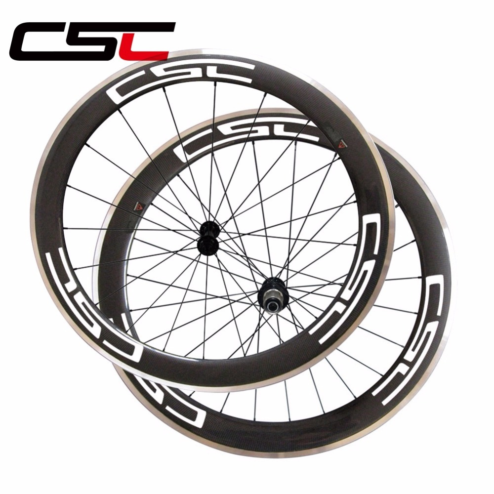 700C 23mm width 60mm clincher road bicycle carbon wheels with alloy breaking surface bike wheelset matte R13 hub sapim spoke free shipping 700c full carbon wheels 23mm width clincher tri spoke fortrack triathlon time trial road bike wheelset