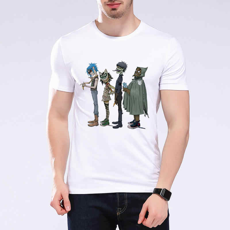 Gorillaz Rock Band Rap Hip Hop Anime Divertente T-Shirt Casual Manica Corta In Cotone di Stile di Estate Punk Camisa Masculina Più Il Formato l9k10