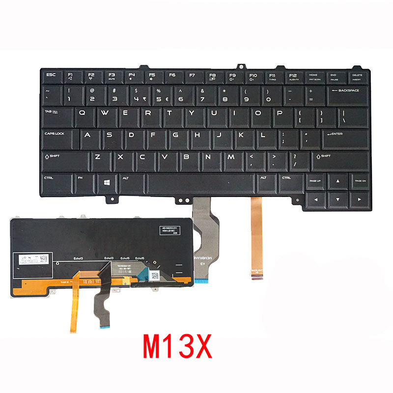 NEW Replace FOR DELL Alienware 17 R2 R1 R3 M13X M17X Laptop Built-in Keyboard
