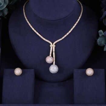 Accking Hotsale Nigeria 2 pcs Bridal Jewelry Sets New Fashion Dubai Full Jewelry Set For Women Wedding Party ball - DISCOUNT ITEM  10 OFF Jewelry & Accessories