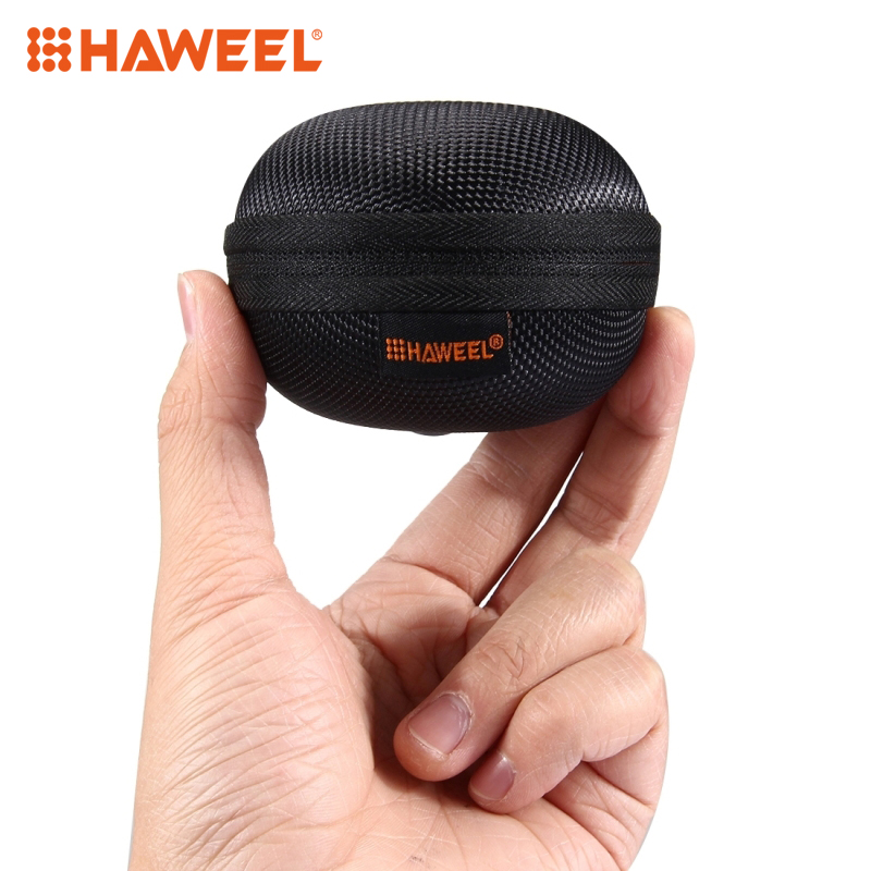 HAWEEL Storage Case Round Portable Hold Carrying Hard EVA Case Earbuds Pocket Collection Box Earphone Case Pouch Bag