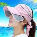 Aire Sombreros de Copa para las mujeres Mujer Coreana Del Verano Sol Sombrero Flexible de Montar Una Bicicleta Protector Solar Sombrero Al Aire Libre Gorra de Béisbol