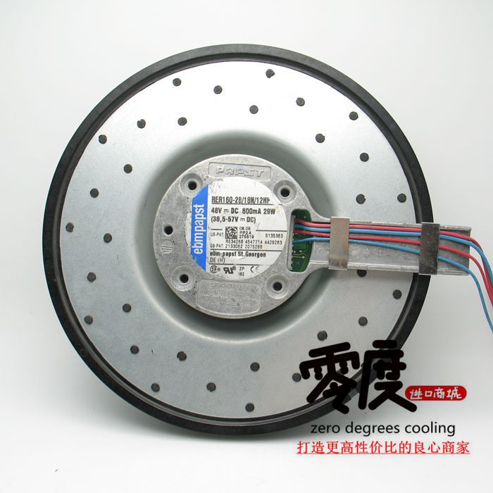 Original EBM PAPST RER160-28/18N/12HP 48V 29W 175*45mm centrifugal turbine cooling fan new original ebm papst dv4118 2npu dc48v 0 46a 120 120 38mm 12cm ip54 waterproof aluminum frame air humidifier cooling fan