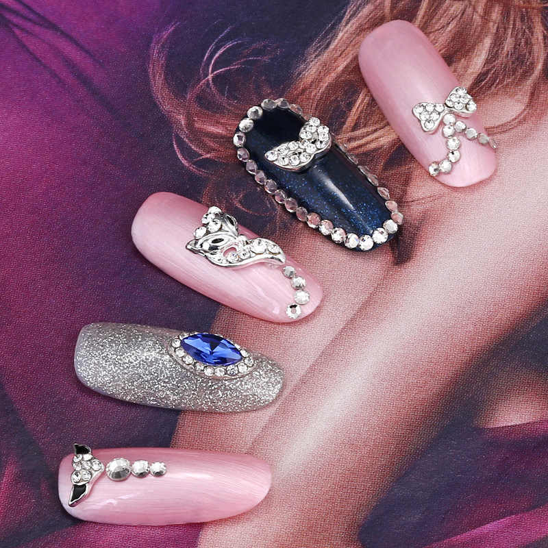 光沢のあるガラス宝石石 RhinestonesNnail アート 3D 日本超薄型スパンコールカラフルなグリッターヒント UV