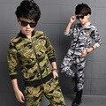 Conjuntos de Roupas crianças Para Meninos Camuflagem Ternos Esportivos Outono Crianças Fatos de Treino meninos adolescentes sportswear 5 6 7 8 9 10 11 12 anos
