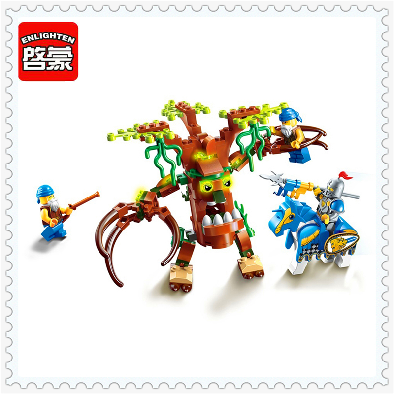 ENLIGHTEN 2302 War Of Glory Castle Knight Defend Model Building Block 134Pcs Educational  Toys For Children Compatible Legoe купить дешево онлайн