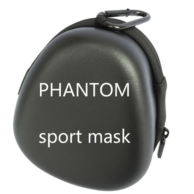 Drop Shipping Hot Sale Good Quality Men Women Phantom Portable Packing Style Sport Outdoor Mask With EVA Bag And Mask Black hot sale good quality inductive