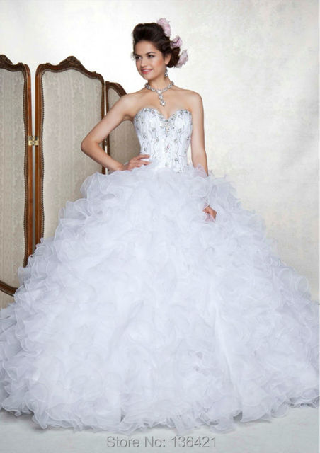 54ec0e6f30b 2014 New Style Top Quality Beading Royal Purple White Rose Red Ball Gown  Sweetheart Organza Sleeveless Quinceanera Dress CR004