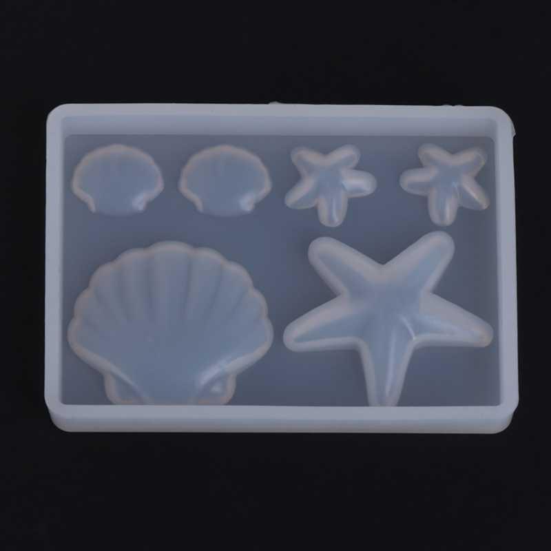Baru Silikon Cetakan Berlian Shell Epoxy Resin DIY Perhiasan Membuat Kerajinan Kue Liontin