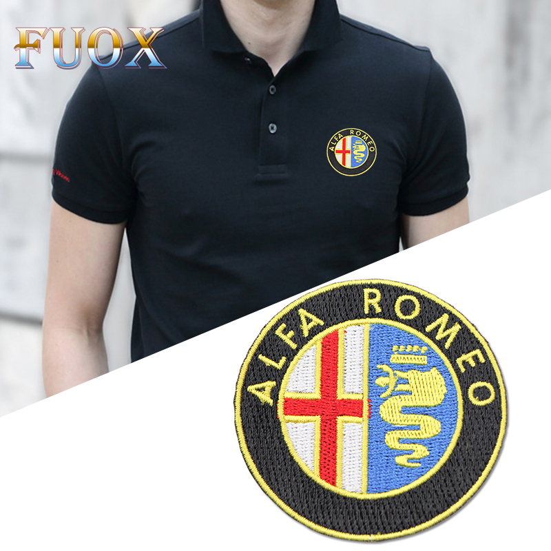 Car Styling For Clothes Stickers Fabric Applique Patch Embroidery For Alfa Romeo Giulietta Spider GT Giulia Mito 147 156 159 166