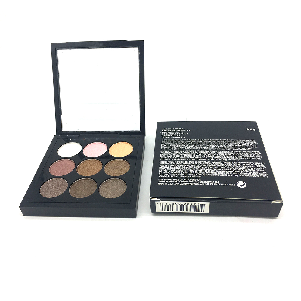 Brand 9 Colors Artist Eyeshadow Palette Earth Color Shimmer Matte Nude Eye Shadow Pigments Glitter Eyeshadow Smoky Makeup