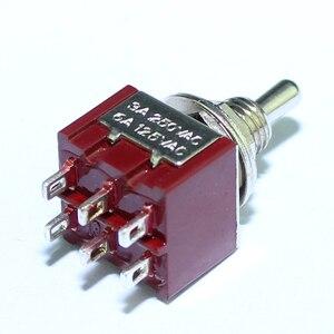 Image 4 - 100 قطعة 6A 125VAC البسيطة تبديل التبديل 6 مللي متر 3A 250VAC 6PIN DPDT على على الإغلاق دواسة الغيتار مفاتيح مع اللحيم دبوس