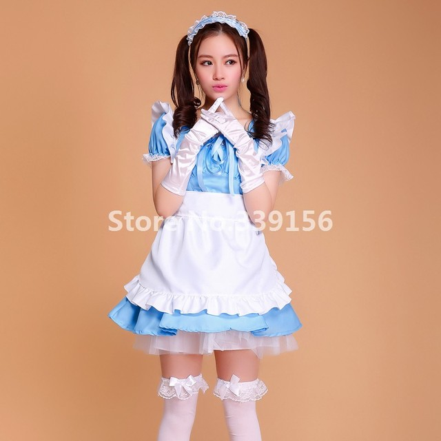 Candy - colored Maid Costumes Anime Cosplay Outfit Girls Lolita Princess Dress Restaurant Sweet Ball Gown Maid Uniform