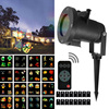 16PCS Switchable Pattern Waterproof Rotating Christmas Laser Projector Lamp Outdoor Party Halloween Patio Decoration Stage Light