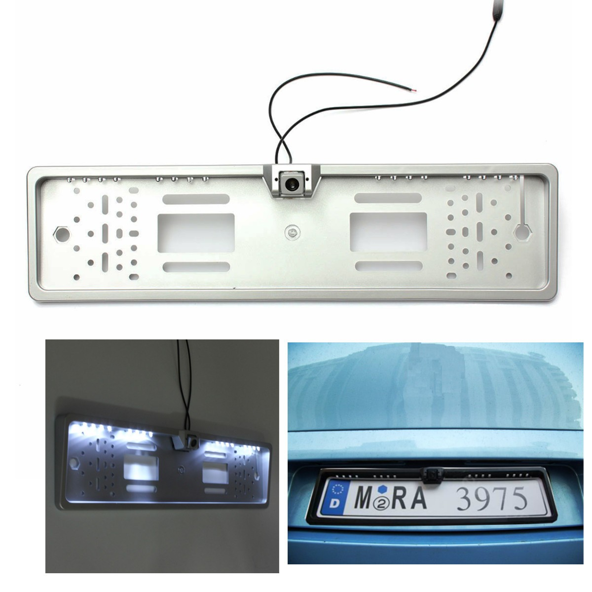 цена на Newest Car 16 LED Number Plate Frame Light Rear View Camera Backup Parking Reversing 170 degree wide viewing angle