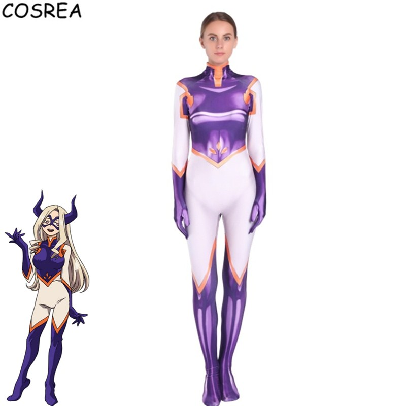 Anime cosplay costume Boku No Hero Academia 3D Printing Mt.Lady Zentai bodysuit Multi-size selection for Halloween Party