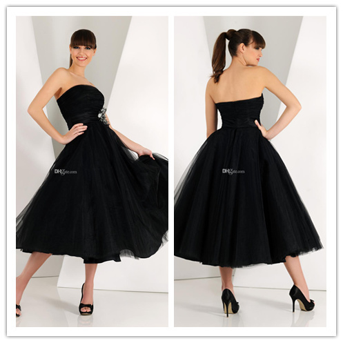 Tulle Ball Gown Sexy Black Strapless Prom Dresses 2015 Plus Size New