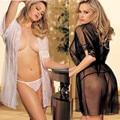 Transparente Feminino Vestido com T-voltar Barato Hot sexy Seduzir Erótico Pijamas Mulheres Sexo Lingerie Escravo