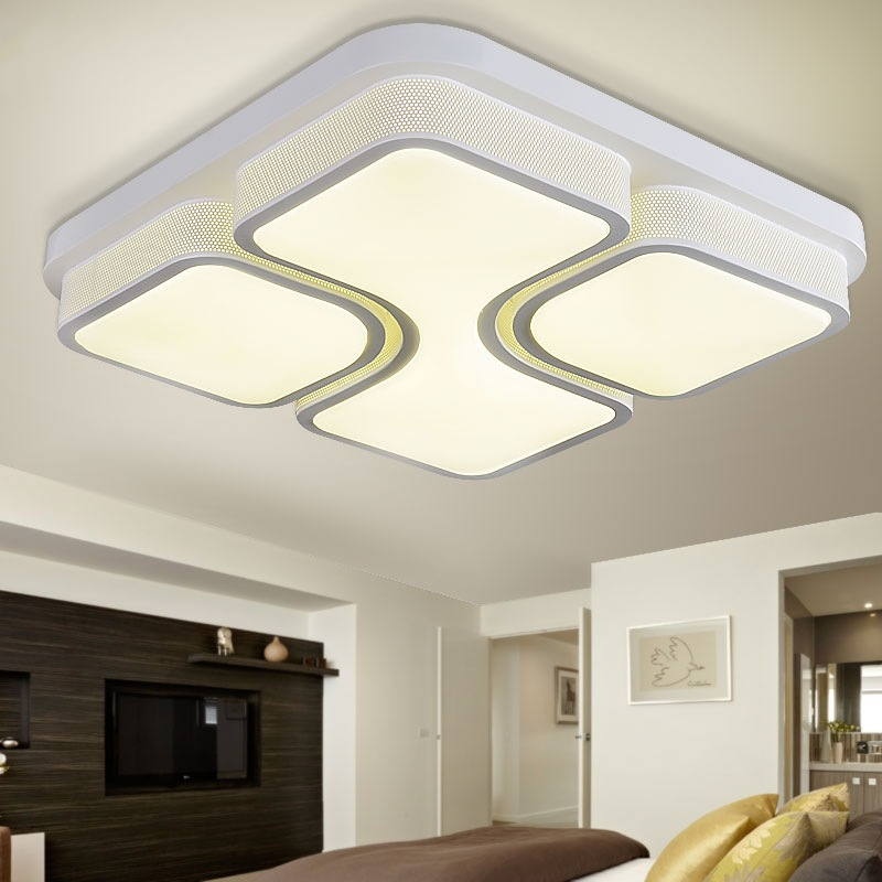Modern led square ceiling lighting acrylic led ceiling for Modern living room ceiling lights