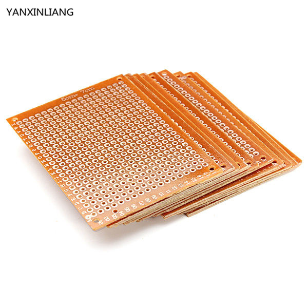 10PCS Blank PCB Breadboard Universal DIY Phototype Board Single Side Circuit Breadboards