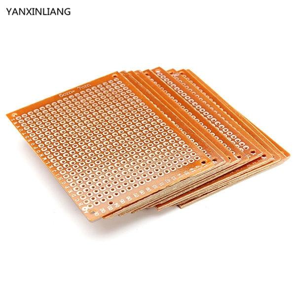 10PCS Blank PCB Breadboard Universal DIY Phototype Board Single Side Circuit Breadboards msp430 development board microchip msp430f149 program breadboard