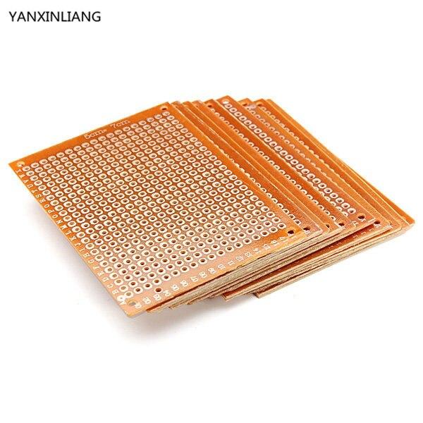 цена на 10PCS Blank PCB Breadboard Universal DIY Phototype Board Single Side Circuit Breadboards