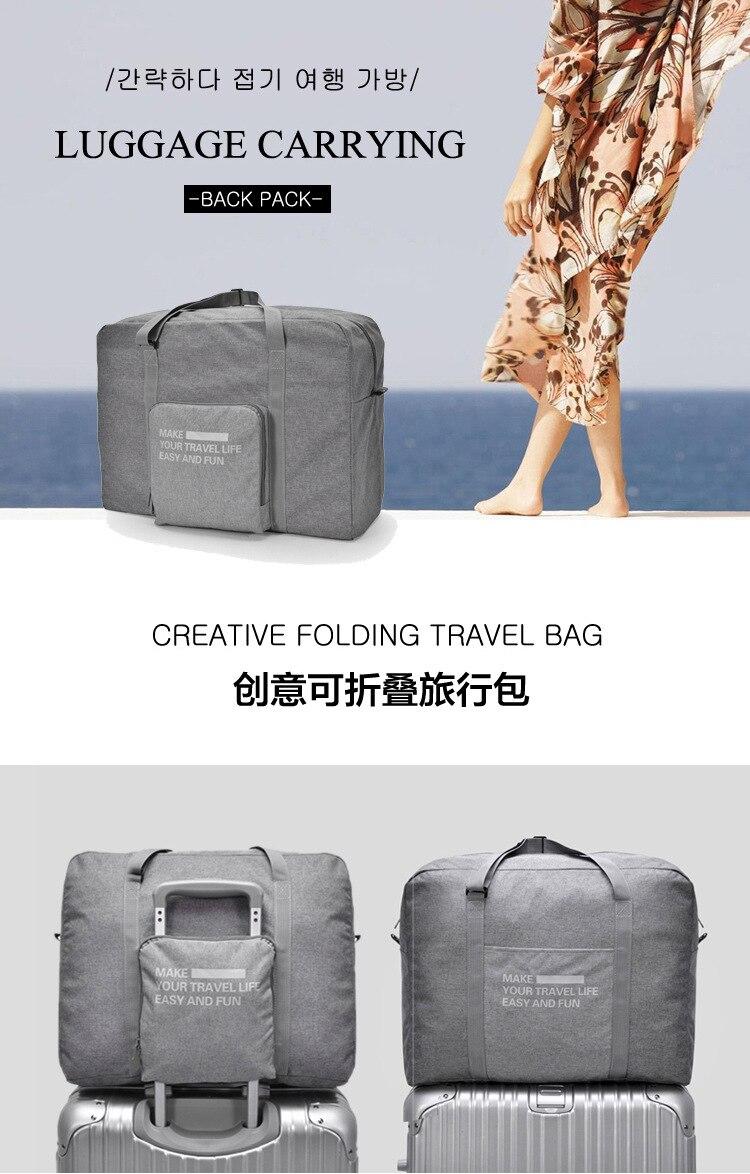 Baru Tahan Air Kapasitas Besar bagasi Packing Tote Bahu Perjalanan Belanja  Tas Besar Lipat Pakaian Penyimpanan Pouch Organizer f4fd7b28b0