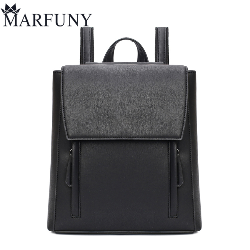 MARFUNY Brand Preppy Style Women Backpack Fashion Solid Backpacks For Teenage Girls School Bags Famous Brands Travel Backpack 2017 new arrive famous brand designer women bling bling backpack fashion sequins backpack preppy style girl s school bags xa294b