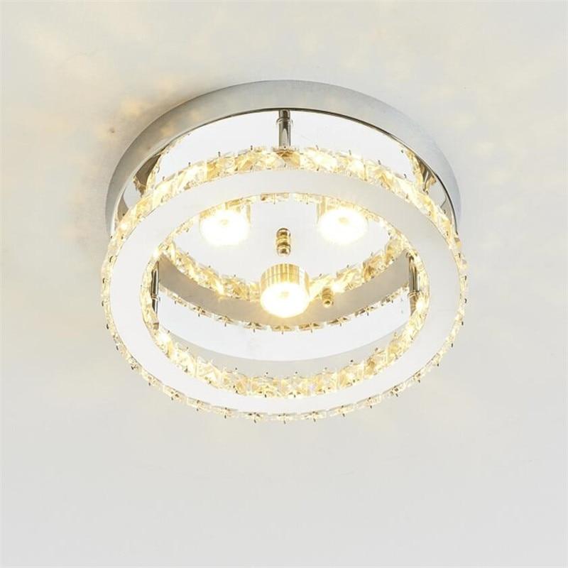 Modern LED Crystal Chandelier Lighting Mirror Ceiling Lamp For Kitchen  Bathroom Plafonnier Luminaire Light Fixture Lusters