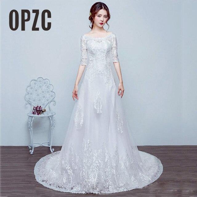 Hot sale Elegant beautiful lace half sleeve mermaid Wedding Dresses ...