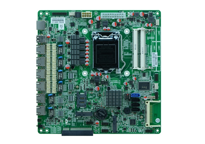 Pare-feu industriel intégré carte mère B75 LGA 1155 socket carte mère B75SL avec 6LAN, 2 * dérivation, 3 * SATAIII, 1 * MSATA, 6 * USB