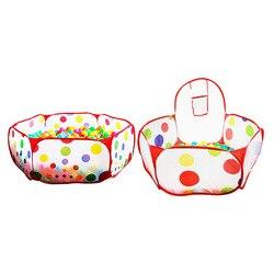 Barraca de segurança do cercadinho do bebê para crianças indoor bola piscina jogar tenda crianças polka dot hexágono playpens portátil dobrável