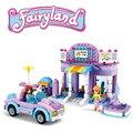 368 unids banbao bloques de construcción establecen salón de belleza amigo ladrillos juguetes compatible amigos para la muchacha m324