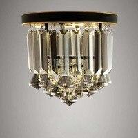 Люстра Свет Бесплатная светодиодные лампы K9 с украшением в виде кристаллов дымчато Серый Кристалл черного листового железа art круглый диза