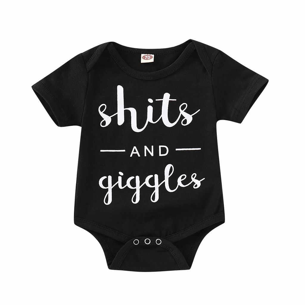 """Camiseta de manga corta de algodón para niños y niñas con estampado de """"shits and giggles"""""""