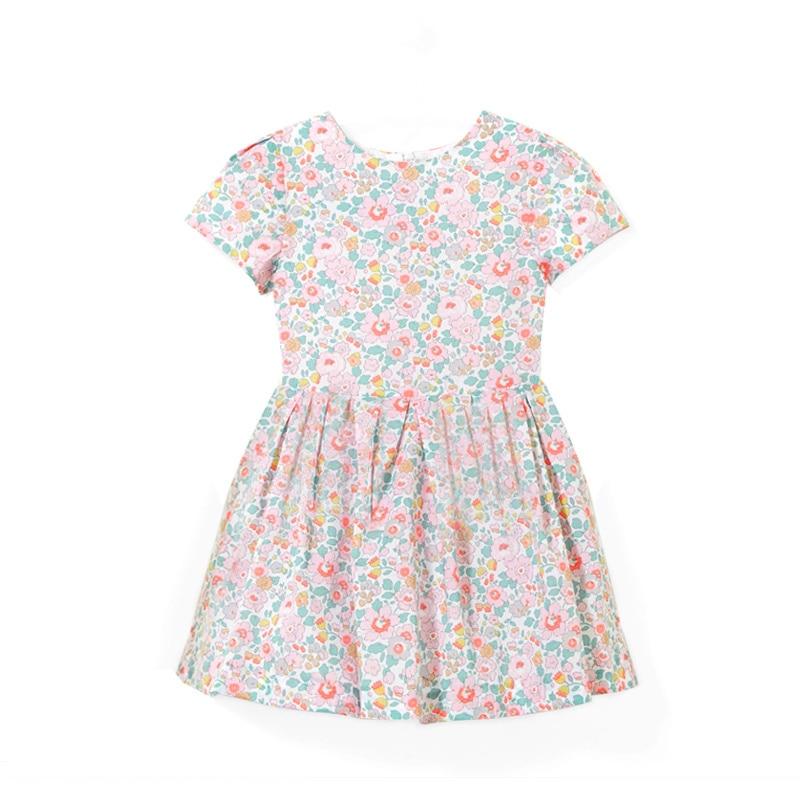 J marque filles coton robe enfant en bas âge fille robe de princesse