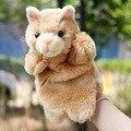 Bonito Dos Desenhos Animados de Pelúcia mão fantoches Fantoche de Mão de Gato Guaxinim Animais Brinquedos para As Crianças brinquedos educativos Pai-Filho para o Aniversário presente
