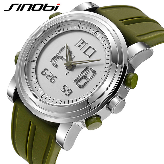 SINOBI 2018 Sports Digital Men Women's Wrist Watches Stock Watch Date Waterproof Chronograph Running Clocks Montres Femmes